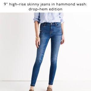 "Madewell 9"" Highrise jeans: drop hem edition"